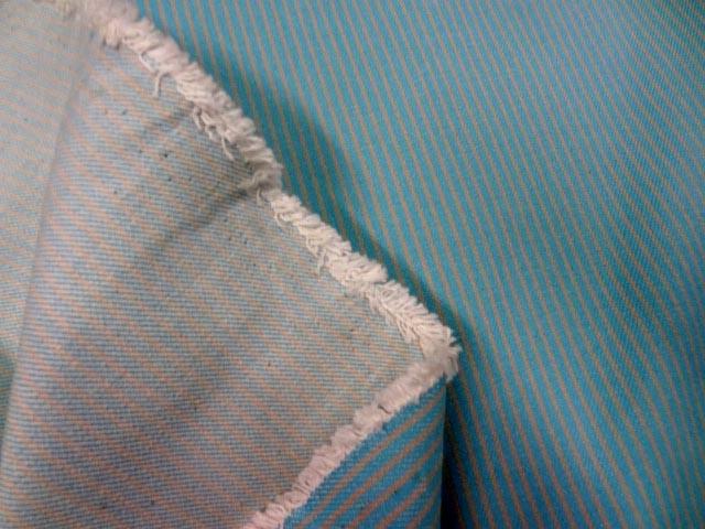 Toile de jean bleu rayee jaune clair 2