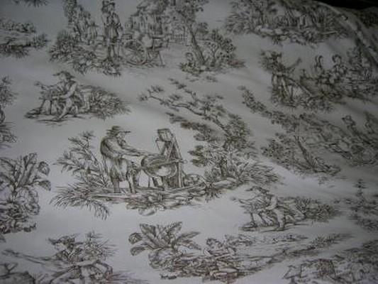 Toile de Jouy motifs marron