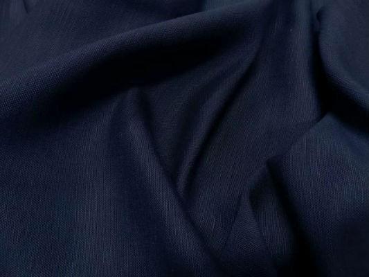 Toile de lin bleu marine 1