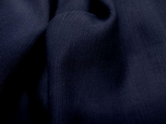 Toile de lin bleu marine 2