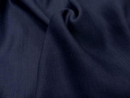 Toile de lin bleu marine 3