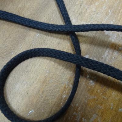 Tresse plate coton noir 1