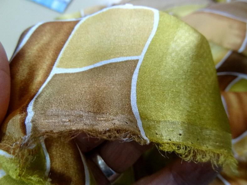 Twill de soie motif graphique vintage teintes automne 1