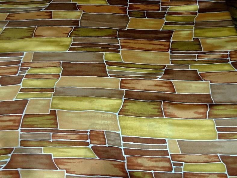 Twill de soie motif graphique vintage teintes automne 3 1
