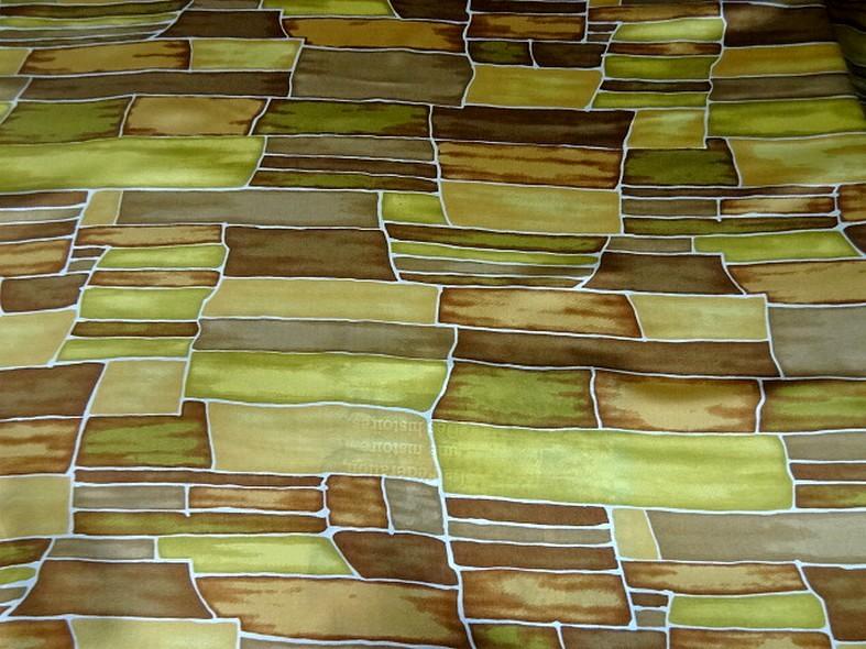 Twill de soie motif graphique vintage teintes automne 3