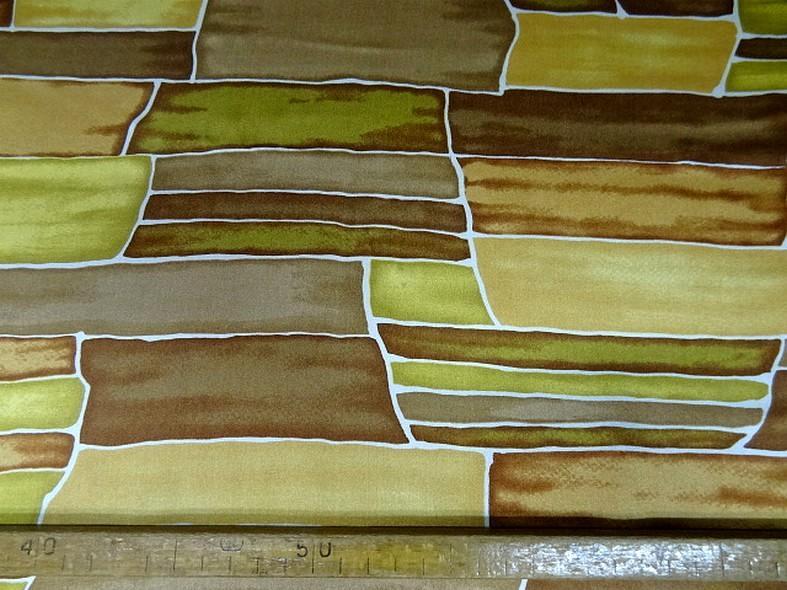 Twill de soie motif graphique vintage teintes automne 4 1