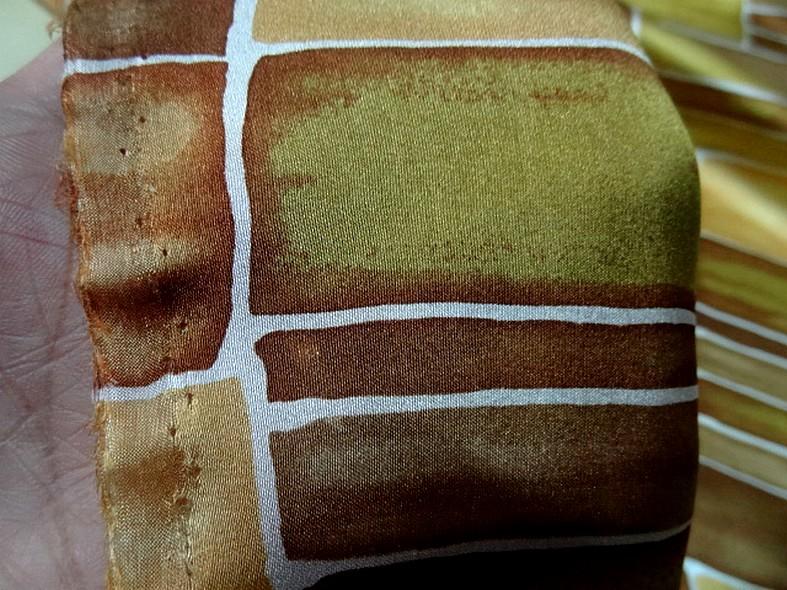 Twill de soie motif graphique vintage teintes automne 5