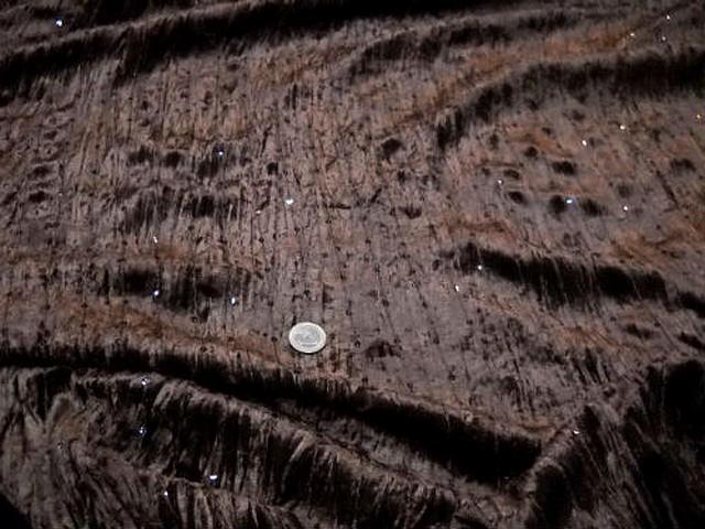 Velours a sequins marron chocolat