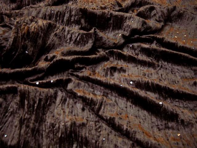 Velours a sequins marron chocolat 2 2