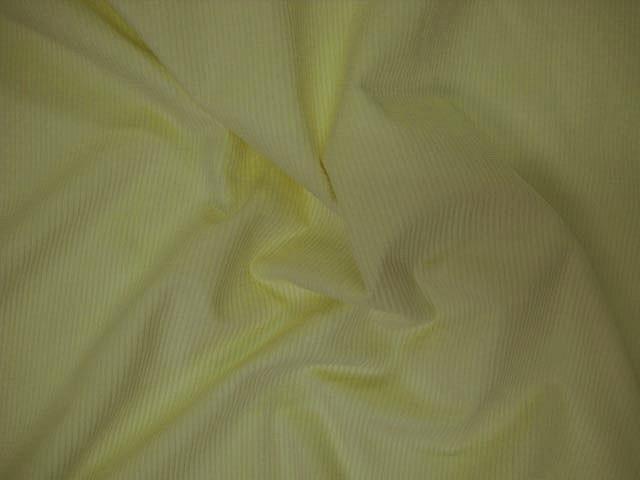 Velours cotele jaune poussin 1