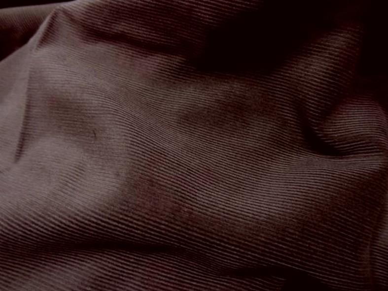 Velours cotele marron chocolat 2
