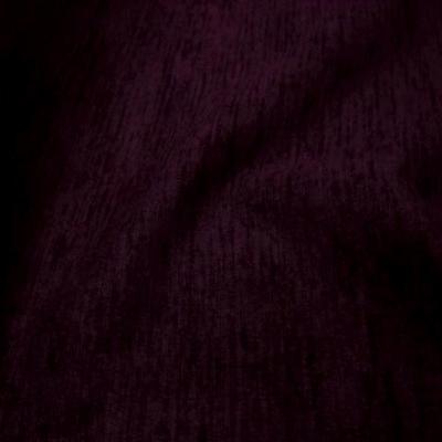 Velours coton ameublement côtes prune 1