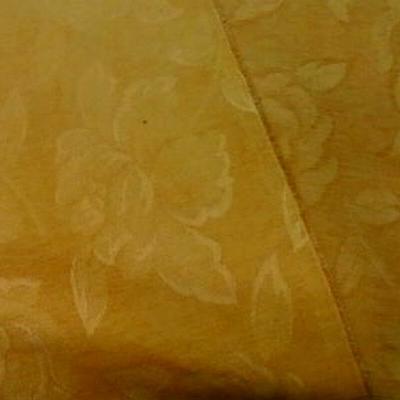 Velours coton ameublement façonné jaune orange 1