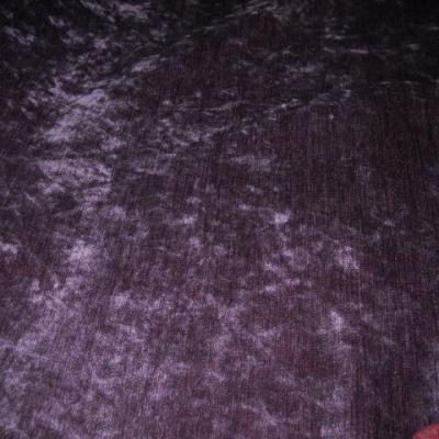 Velours d ameublement chenille violet 1