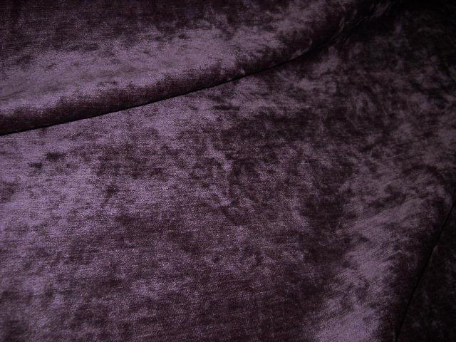 Velours d ameublement chenille violet 2