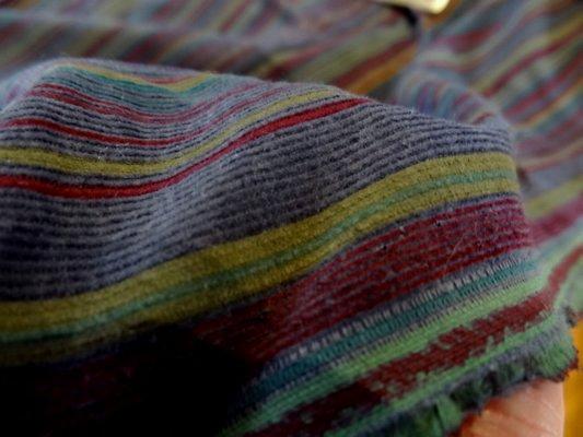 Velours de coton fines rayures colorées 03