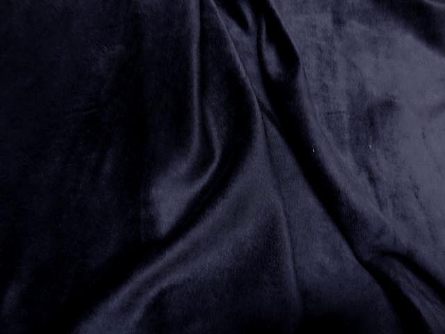Velours eponge bleu marine1