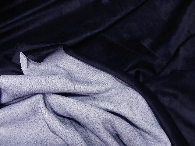 Velours eponge bleu marine2