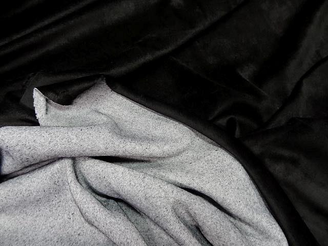 Velours eponge noir 3