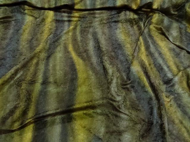 Velours fin teintes kakis fondues en rayures 1