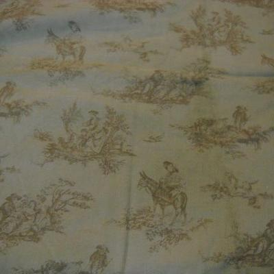 Velours impression toile de jouy 1
