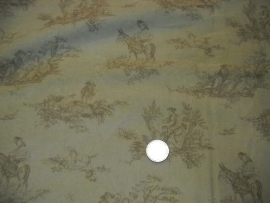 Velours impression toile de jouy 2