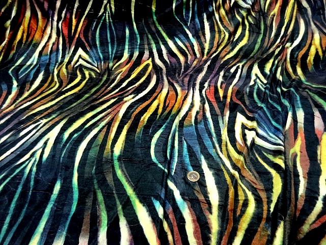 Velours lycra imprime zebre multicolore