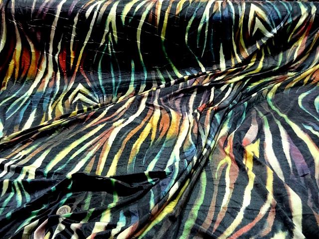 Velours lycra imprime zebre multicolore3