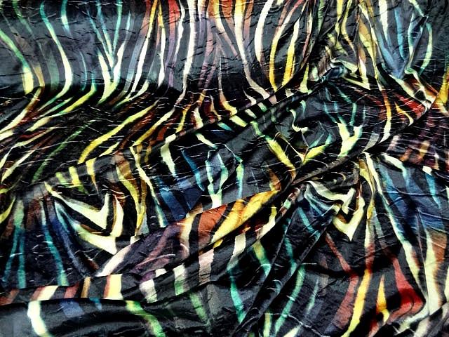 Velours lycra imprime zebre multicolore4