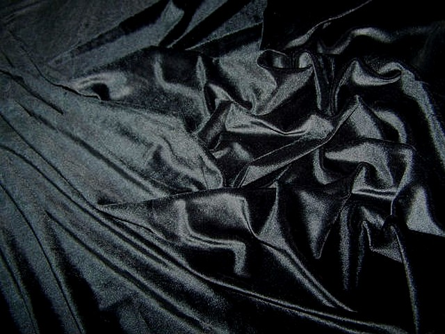 Velours lycra noir 1
