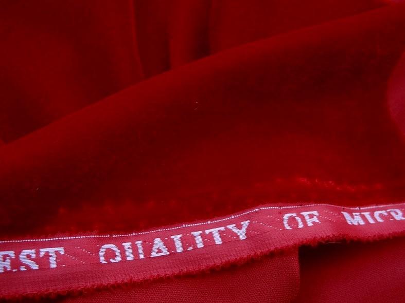 Velours micro fibre rouge groseille 3