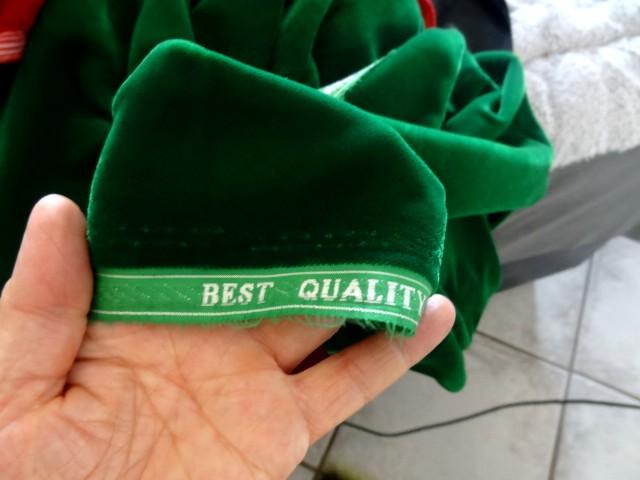 Velours micro fibre vert emeraude 2