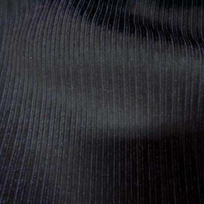 Velours noir a cotes moyenne sur fond bleu3
