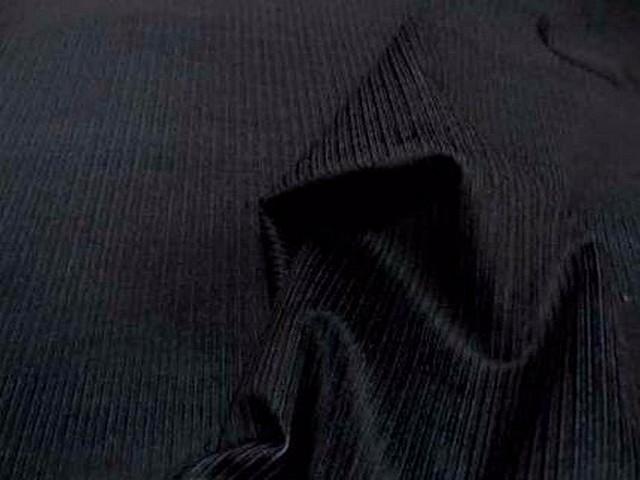 Velours noir cotele face bleue 1