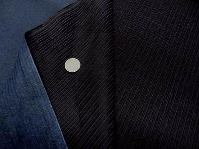 Velours noir cotele face bleue 2