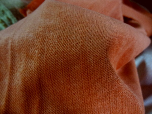 Velours orange rouille 2