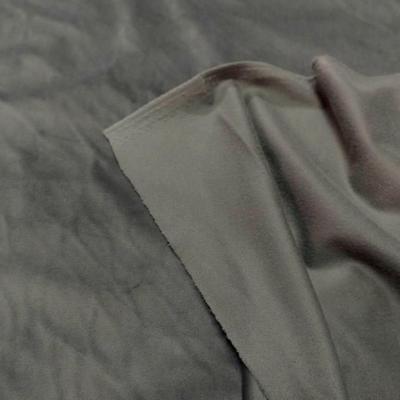 Velours ras d ameublement gris souris clair