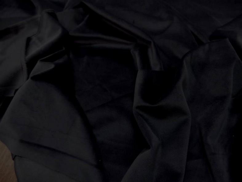 Velours ras d ameublement noir 1
