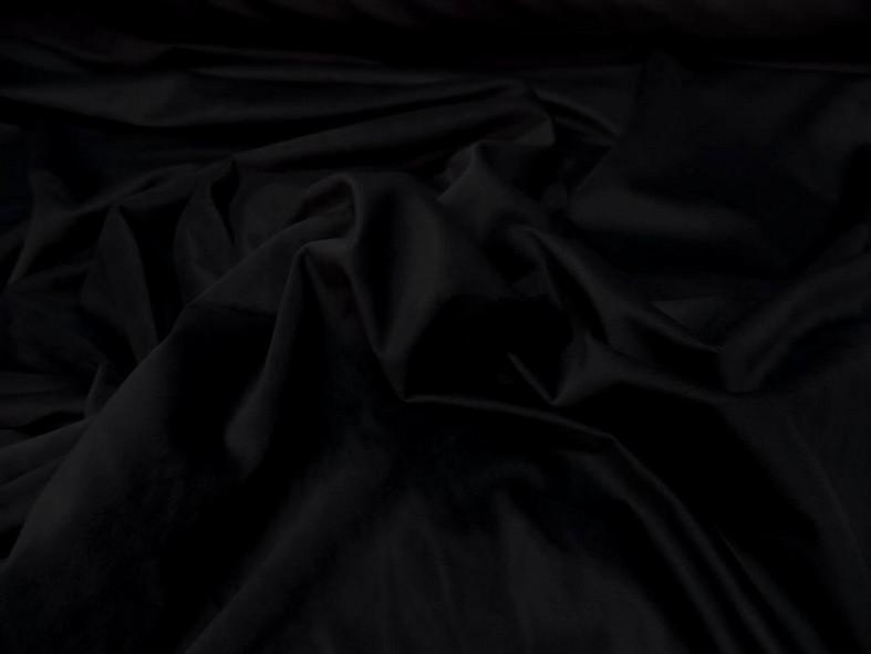 Velours ras d ameublement noir 3