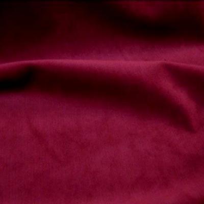 Velours ras rouge bordeaux