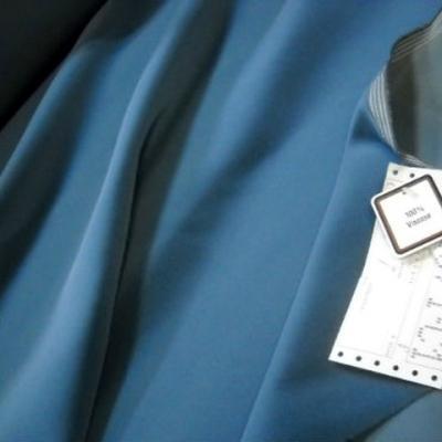 Velours tapissier bleu zinc 1