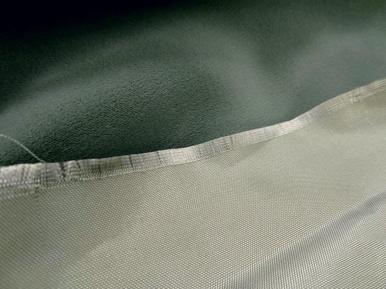 Velours viscose gris celadon 3
