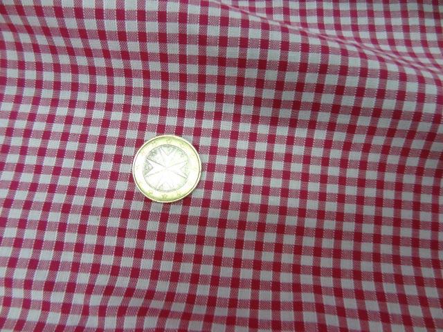 Vichy coton rose fuchia blanc0