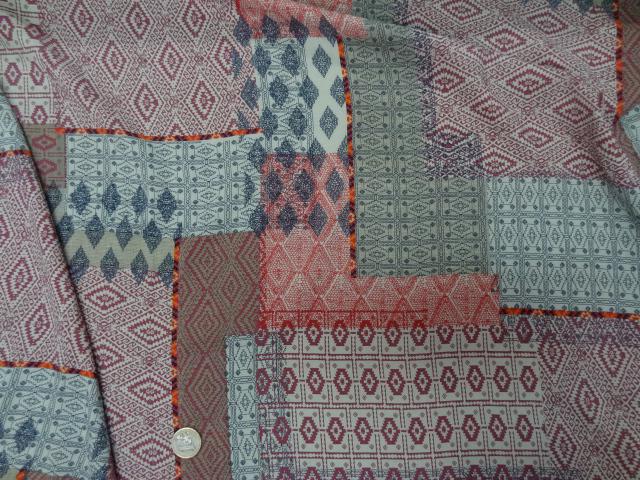 Viscose motif patchwork ethnique rose 3