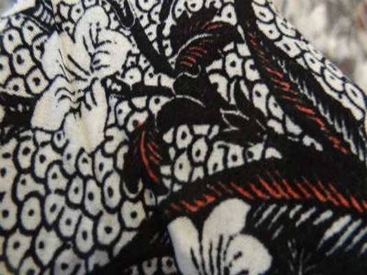 Viscose coton fleur papillon tribal 03