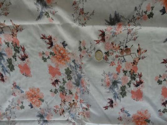 Voile coton chair fleur 02