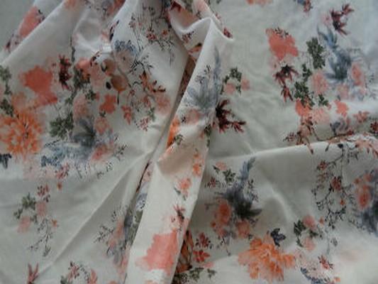 Voile coton chair fleurs 03
