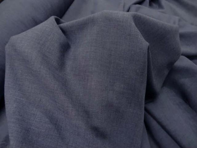 Voile coton bleu guede 1