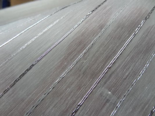 Voile coton rayures lurex metal 3