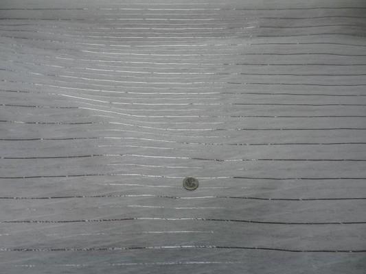 Voile coton rayures lurex metal 4